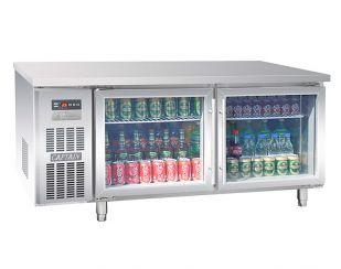平台风冷冷藏柜(两玻璃门)